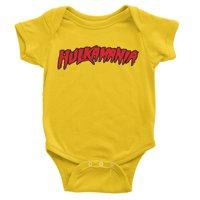 "Official WWE Authentic Hulk Hogan ""Hulkamania"" Baby Creeper Multi Large"