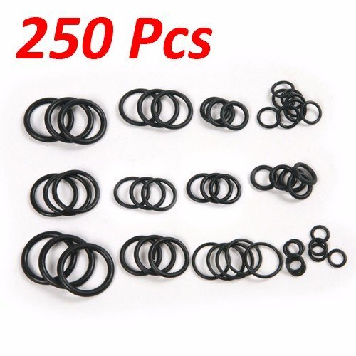 Wideskall® 250 Pcs Flexible Nitrile Rubber O Rings Washers Grommets Assortment