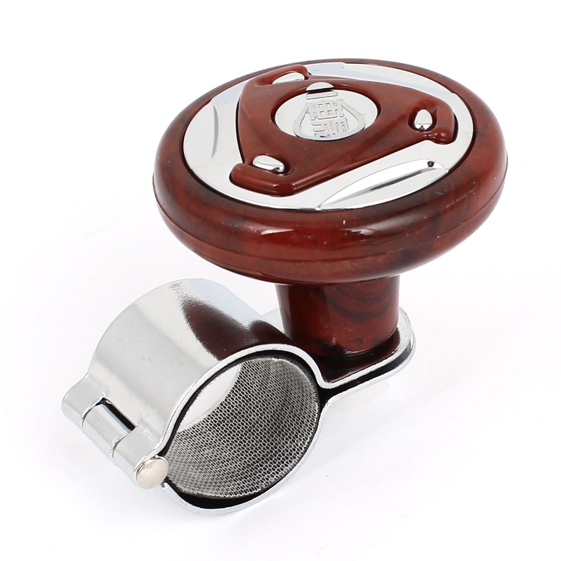 "Durable Plastic Metal 1.2"" Dia. Power Handle Steering Wheel Knob for Auto Car"