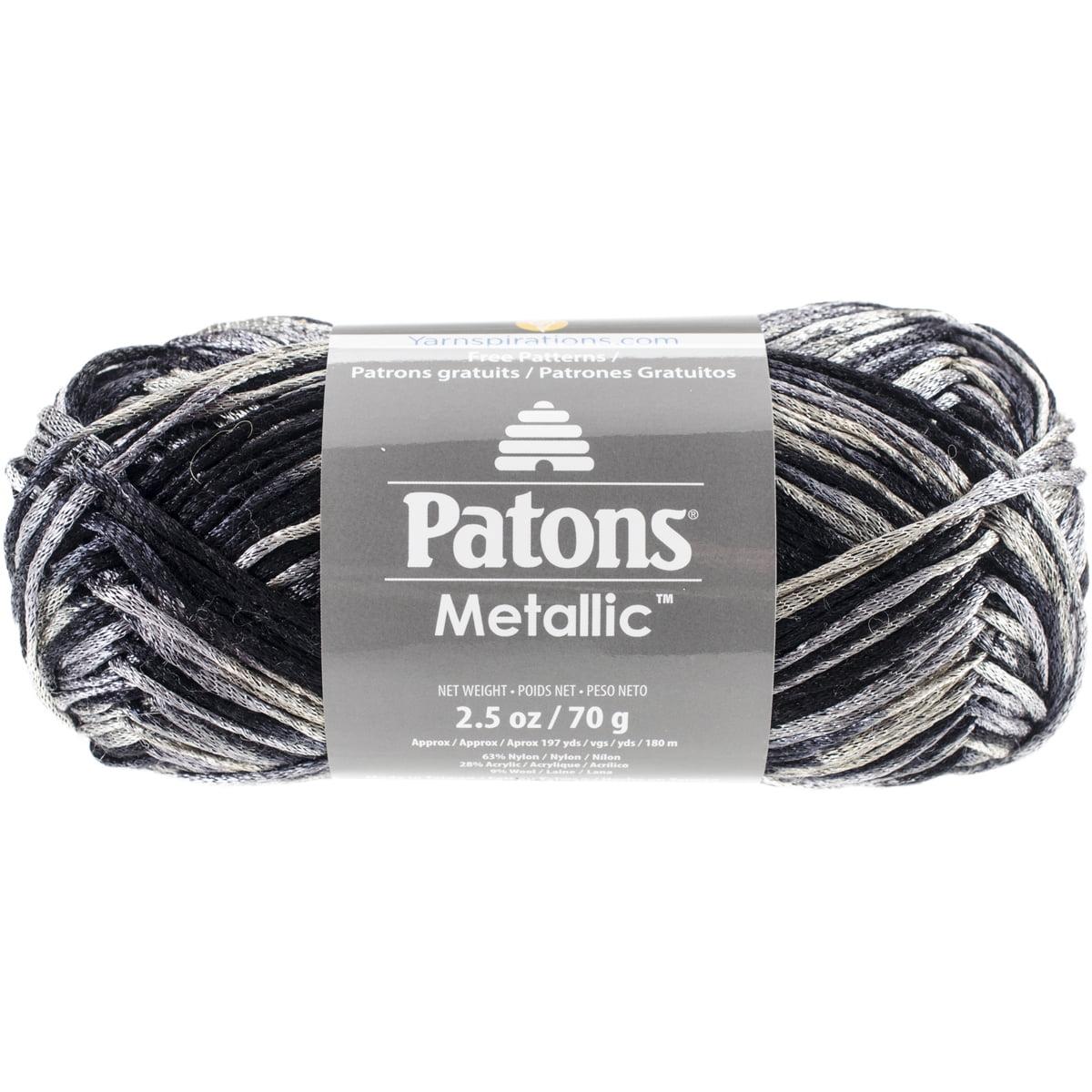 Metallic Variegated Yarn-Black Marble - Walmart.com