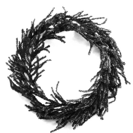 Halloween BLACK ROUND ARTIFICIAL WREATH Metal/ Plastic HC120345 - Halloween Wreaths At Michaels