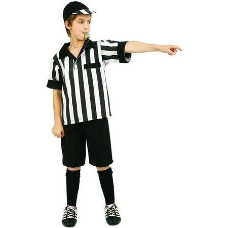 Child Referee Costume (Child Referee Boy Costume~Small 4-6 /)