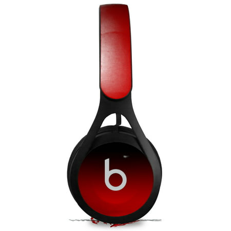 Skin Decal Wrap for Beats EP Smooth Fades Red Black HEADPHONES NOT