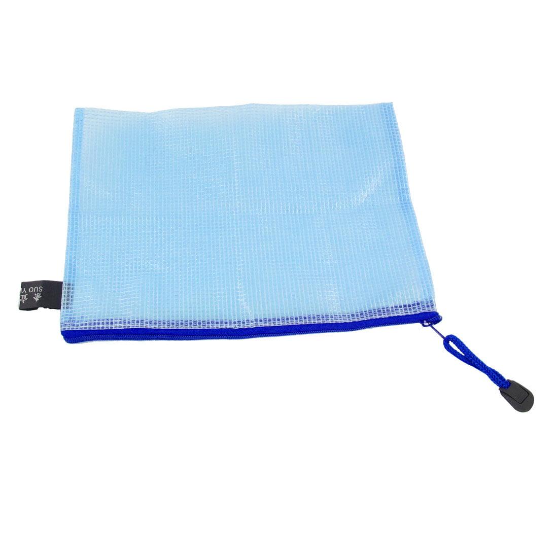 Unique Bargains Light Blue Soft Plastic Zip Up Net Pattern