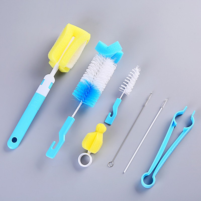 3Pcs Baby Feeding Bottle Brush Sponge Cleaner Straw Nipple Cleaning Washing Tool