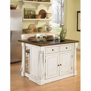 Home Styles Monarch Antiqued White Kitchen Island And 2 Stools