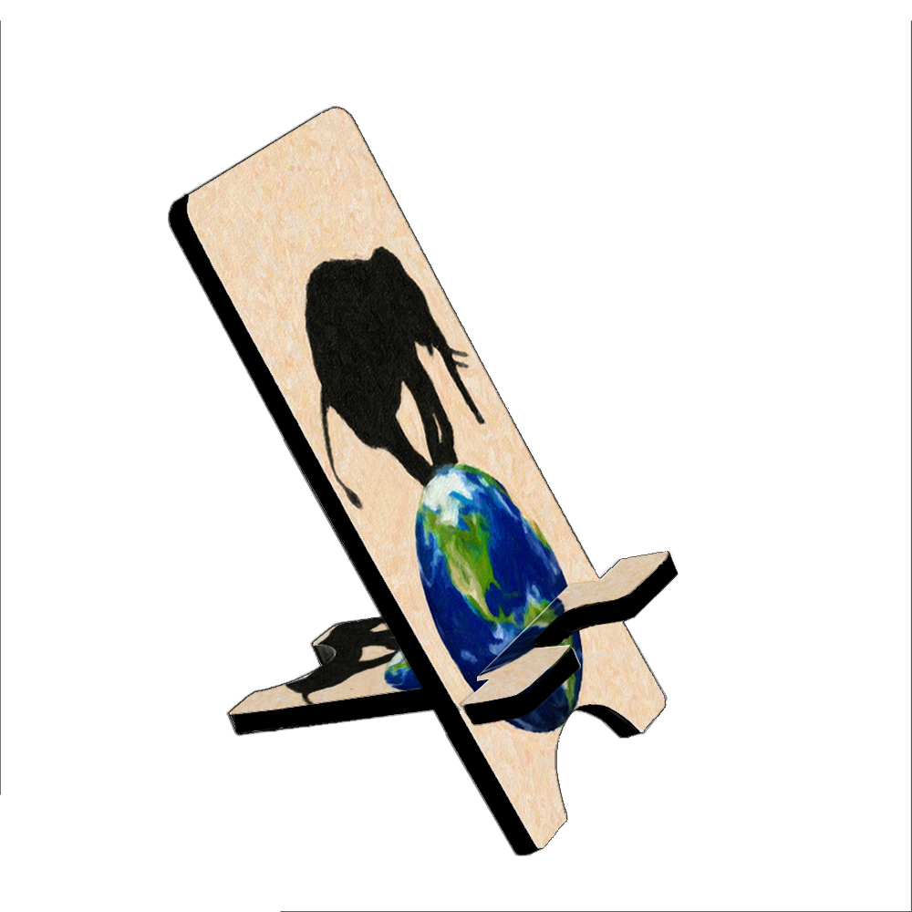 Elephant Wildlife Earth Painting - KuzmarK Folding Stand fits iPad Mini iPhone Samsung Galaxy