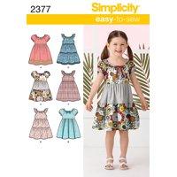 Simplicity Childs' Size 3-8 Dresses Pattern, 1 Each