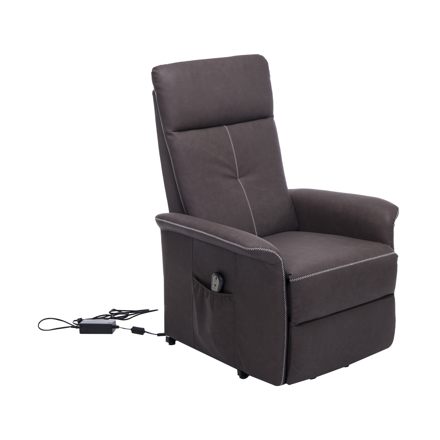 Homcom 45 Quot 3 Position Electric Lift Chair Recliner Brown