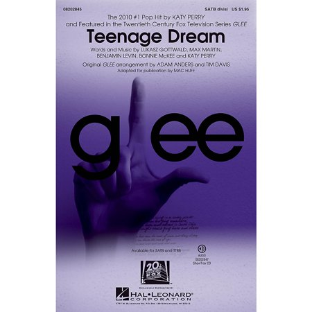 Hal Leonard Teenage Dream (featured in Glee) TTBB DIVISI by Katy Perry Arranged by Mac Huff (Katy Perry Costume Australia)
