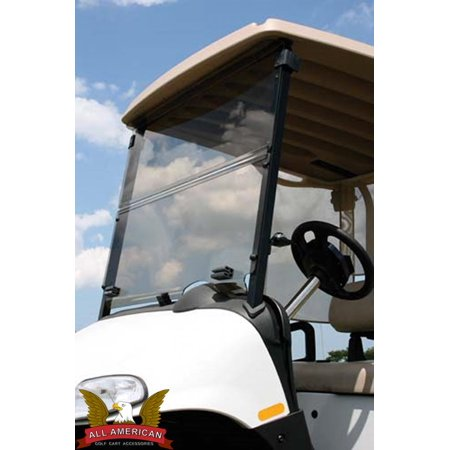 "EZGO ST35038-3/8"" Golf Cart All American Folding Flip Windshield - Tinted/Clear"