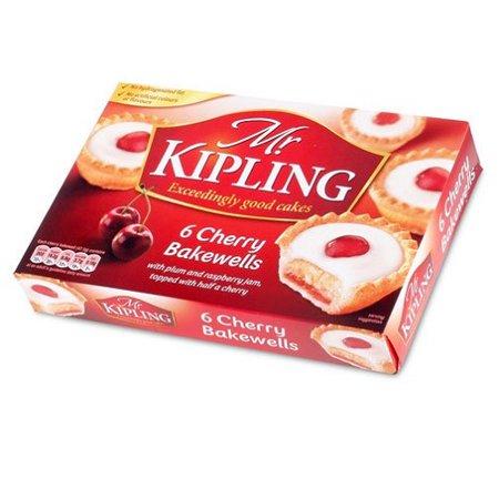 Mr Kipling Cakes - Cherry Bakewells - 6 Pack by Mr Kipling [Foods] by Mr.