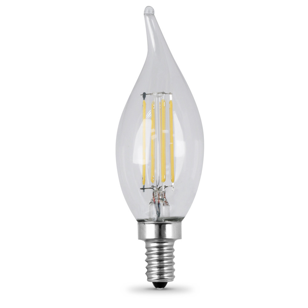 Feit BPCFC25/827/LED/2 Pack of (2) 3 Watt Clear Vintage Edison Dimmable B9 Candelabra (E12) LED Bulbs