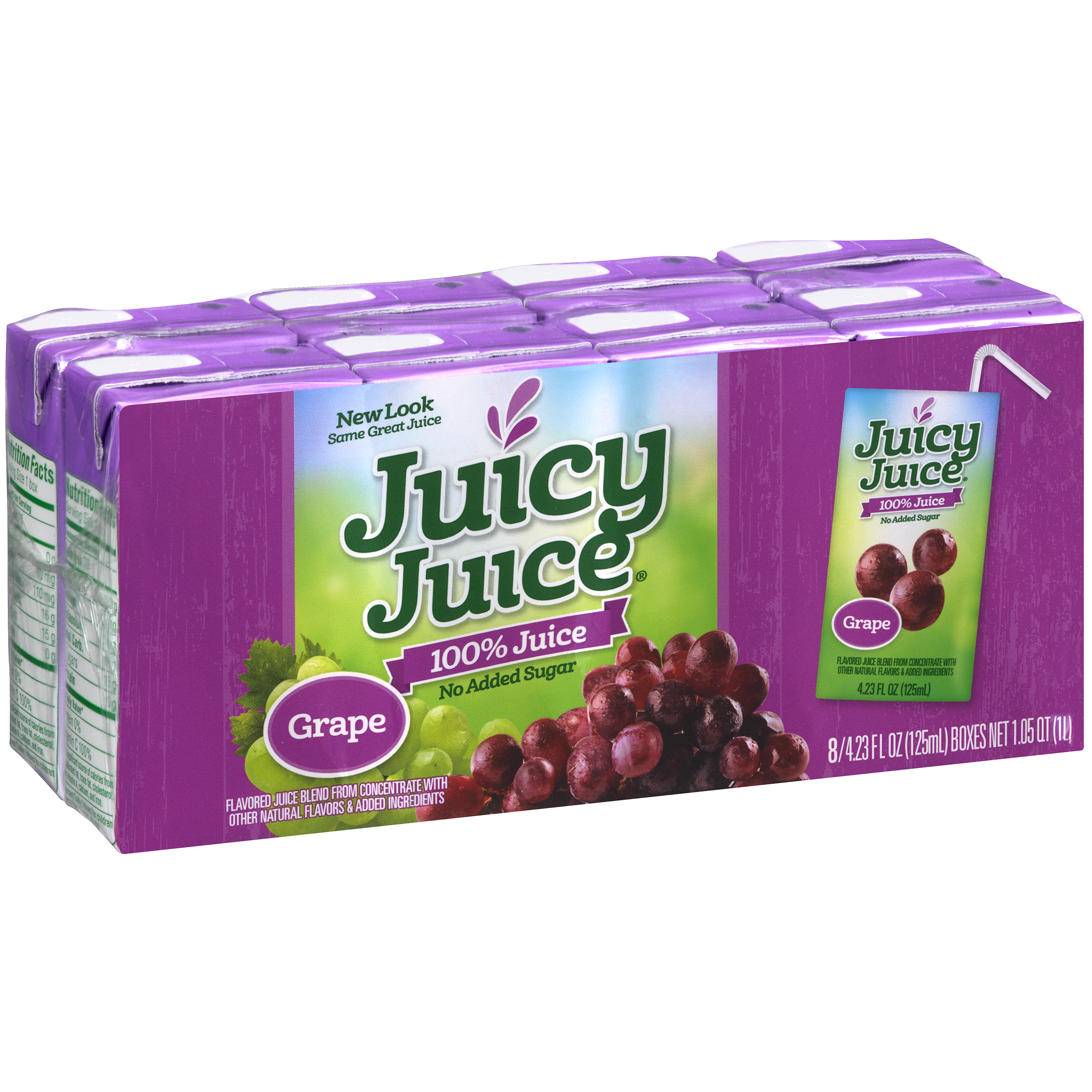 Juicy Juice 100% Juice, Grape, 4.23 Fl Oz, 8 Count