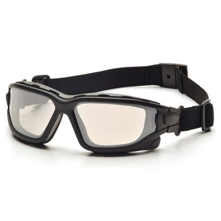 Black Strap-Temples/Indoor/Outdoor Mirror Anti-Fog Lens