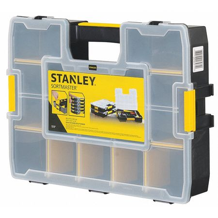 STANLEY Adjustable Compartment Box,Plastic,Black STST14027