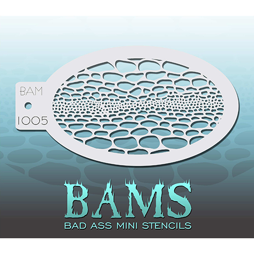 Bad Ass Snakeskin Mini Stencil BAM1005