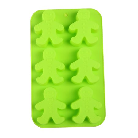 Gingerbread Men Party Novelty Silicone Jello Chocolate Mold Ice Cube Tray
