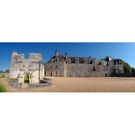 Facade of an abbey La Chartreuse Du Liget Loire-et-Cher Loire Touraine France Canvas Art - Panoramic Images (15 x 6) Abbey 6 Light Single