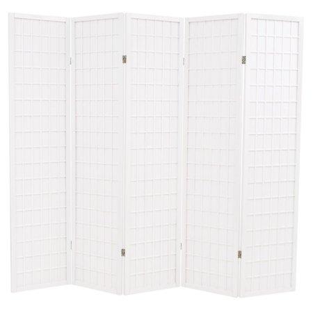 Spring Divider (Folding 5-Panel Room Divider Japanese Style 78.7