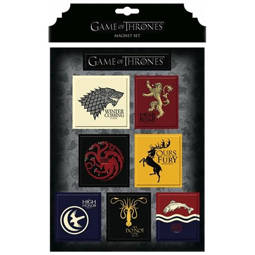 Game of Thrones Magnet Set - House Crests