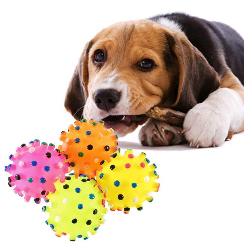 Girl12Queen Pet Puppy Chew Squeaker Squeaky Plush Sound Piggy Elephant Duck Ball Dog Toys