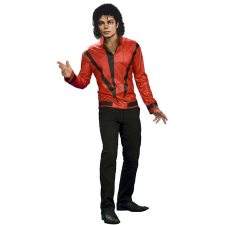 Men's Red Thriller Jacket Michael Jackson Costume - Michael Jackson Halloween Costume Walmart