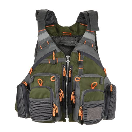 Lixada Outdoor Breathable Fishing Life Vest Swimming Sailing Life Jacket Utility Floating Waistcoat Device