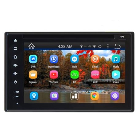 Double Din Android Headunit Stereo Receiver  Tablet Style Functionality  6  Touch Display  Wi Fi Web Browsing   App Download  Gps Navigation  Bt Streaming  Full Hd 1080P Support
