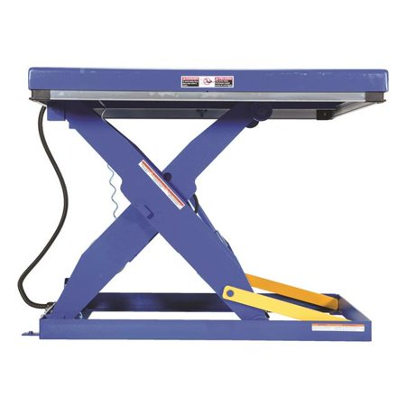 36 Hydraulic Scissor Lift Table - Vestil Manufacturing AHLT-2448-3-43 24 x 48 in. Rotary Air Hydraulic Scissor Lift Tables, 3000 lbs