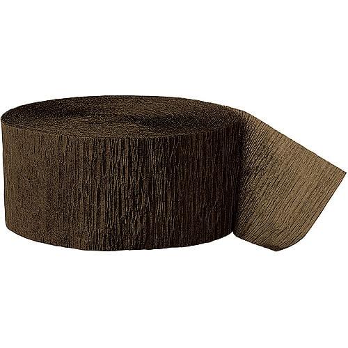 (2 Pack) Brown Crepe Paper Streamers, 81ft