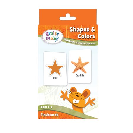 Brainy Baby Shapes and Colors: Rainbows, Circles and Squares Flash Card Set
