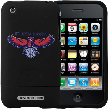 Atlanta Hawks Black Team Name & Logo iPhone 3G Hard Snap-On Case Team Logo Hard Iphone