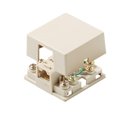 Steren Modular Surface Mounting Box - Rj-11 - Ivory