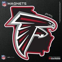 "Atlanta Falcons 6"" x 6"" State Shape Car Magnet"