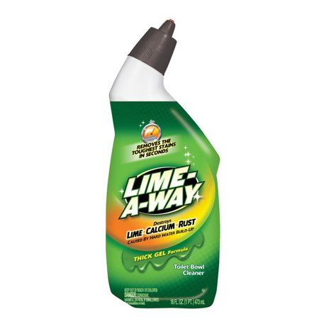 Lime-A-Way Liquid Toilet Bowl Cleaner, 16oz bottle, Remove Lime Calcium (Best Way To Remove Calcium From Toilet)