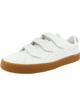 3100e43c12d015 Product Image Puma Men s Basket Classic Strap Citi White   Vintage Khaki  Ankle-High Rubber Fashion Sneaker