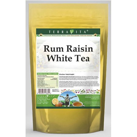 Rum Raisin White Tea (50 tea bags, ZIN: 532263) - - White Overproof Rum