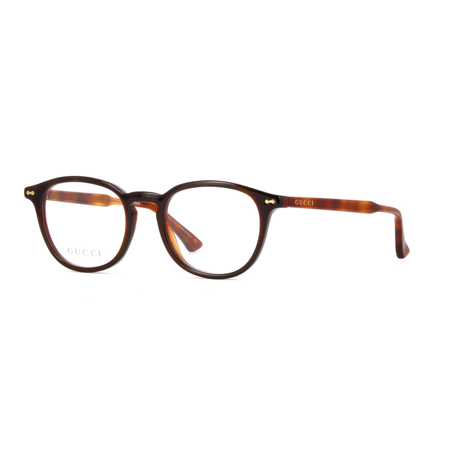 Gucci GG0187O 008 Eyeglasses Havana Brown Frame 49mm