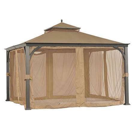 Garden Winds Replacement Canopy Top And Side Mosquito Netting Set For Sams Club 12 X 12 Gazebo