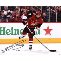 """Anthony Duclair Arizona Coyotes Autographed 8"""" x 10"""" Red Jersey Shooting Photograph - No Size"""