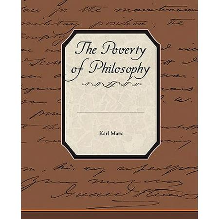 The Poverty of Philosophy - Walmart.com