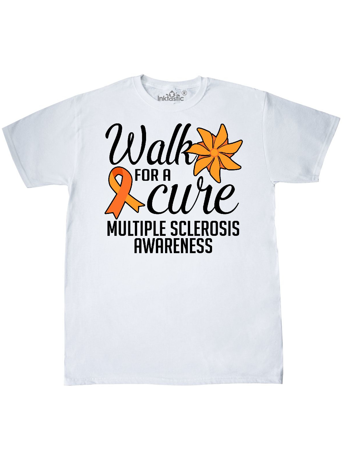inktastic Multiple Sclerosis Awareness with Orange Ribbon and Baby T-Shirt