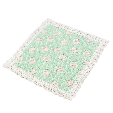 Cotton strawberry heat resistant table cup placemat pad coaster green - Heat resistant table cloth ...