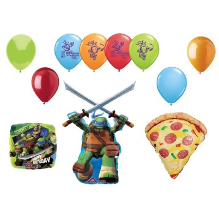 teenage mutant ninja turtles and pizza 11 piece birthday party mylar