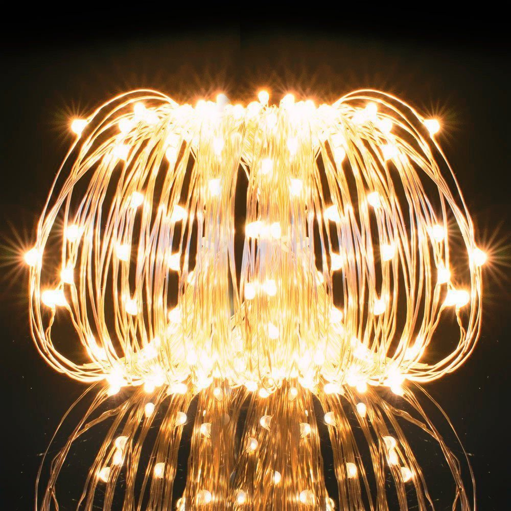 Kohree usb 33ft copper wire 100 led fairy starry string lights kohree usb 33ft copper wire 100 led fairy starry string lights decorative rope lights for party wedding commercial light walmart aloadofball