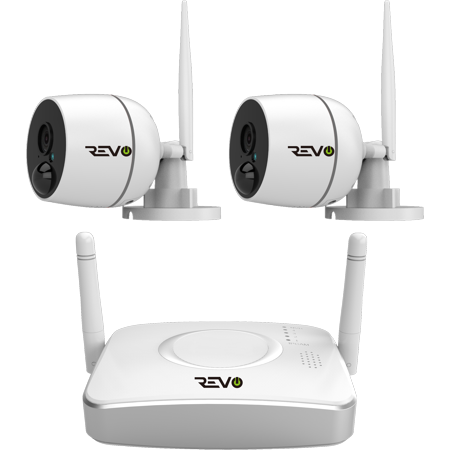 - 4CH Wireless Gateway Security System, 32GB Micro SD Card & 2x 1080p Audio Capable Bullet Cameras with built-in PIR
