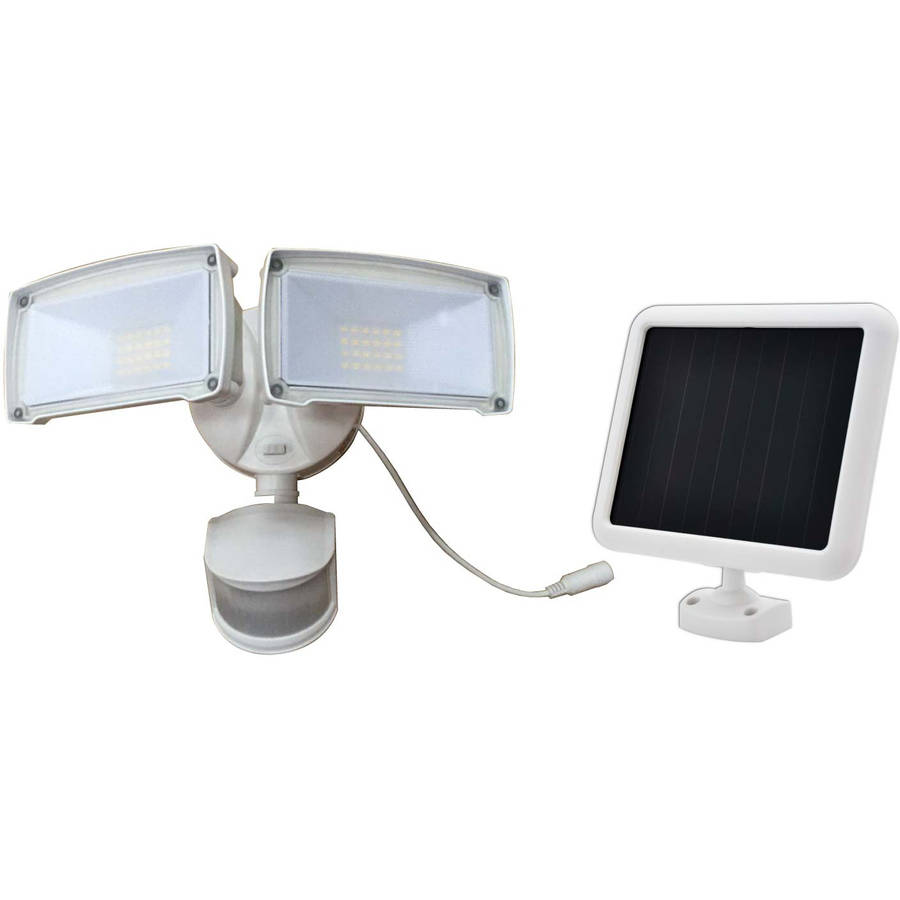 180-Degree Motion-Activated Outdoor Solar Integrated LED Landscape Dual-Head Security... by DECK IMPRESSIONS