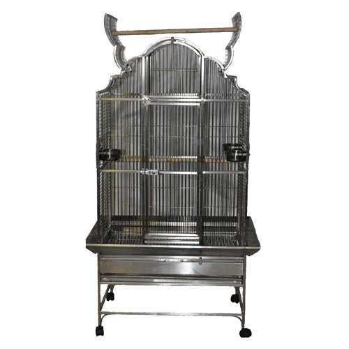 A and E Cage Co. Victorian Top Bird Cage 36L x 28W x 72H in. Stainless Steel by A and E Cage Co LLC