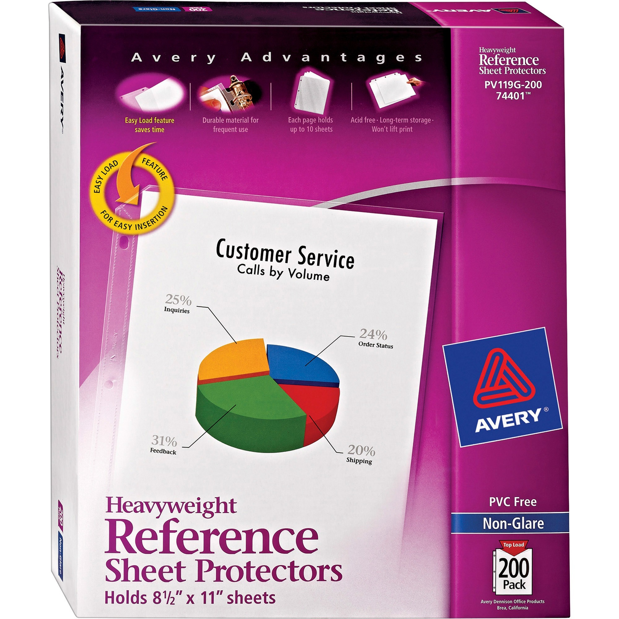 Avery Non-Glare Heavyweight Sheet Protectors, Letter, 200 pack